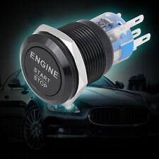 12V White LED Light Car Anti-Rust Engine Start Stop Push Button Switch Black BT