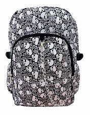 SKULL Squidley Crossbone Backpack Rucksack School College Goth Rock Punk Emo Bag