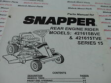 06096 Snapper 421615BVE Series 15 Rear Engine Rider Parts Manual