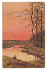 "Russian Latvian Old Art Pastcard SHISKIN ""After a Hot Day"" 1931 Year."