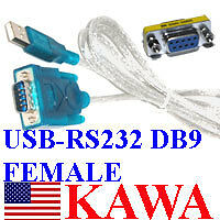 USB to RS232 FEMALE Serial DB9 Cable Adapter for XP NEW