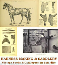 Saddlery Horse Harness Making Repair 19 Vintage Books Catalogues on Data Disc