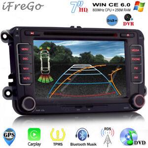 """DAB+ 7"""" GPS Autoradio DVD Navigation Für VW Golf Jetta Tiguan Passat Polo Skoda"""