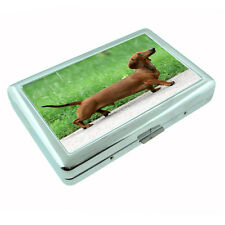 Dog Dachshund 02 Metal Silver Cigarette Case