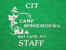 S/M * NOS vtg 80s BAT CAVE North Carolina CAMP MISHEMOKWA t shirt *small medium