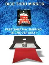 Dice Through Mirror Close Up Magic/Parlor Magic Very Nice Free Same Day Shipping