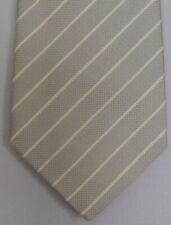 "Kiton Napoli Mens 7 Fold Handmade Silk Stripe Tie NEW 59"" X 3.5"" SKU B32/67 $290"
