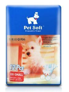 Pet Soft Disposable Female Puppy Dog Diaper XXS Size