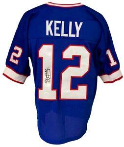 Buffalo Bills Jim Kelly Autographed Pro Style Blue Jersey JSA Authenticated
