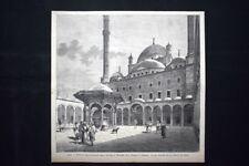 Cairo - Fontana delle abluzioni nella Moschea di Mohamed Alì Incisione del 1882