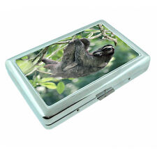 Cute Sloth Images D1 Silver Metal Cigarette Case RFID Protection Wallet