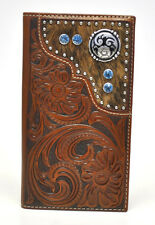 Nocona Rodeo Genuine Leather Hair on Hide w/Stones Western Men's Wallet-N5426208