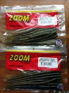 Lot of 30 ct Zoom Watermelon Candy Mag Shakey Head Worms