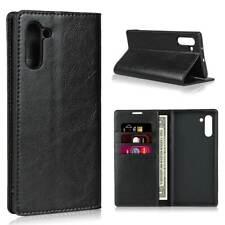 Samsung Galaxy Note Hülle Tasche Flip Case Schutz Etui Book Cover Wallet Schwarz