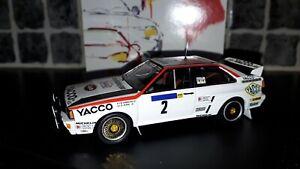 Audi Quattro A2 Bernard Darniche Tour Auto 1984 1/43rd diecast Trofeu rare WRC