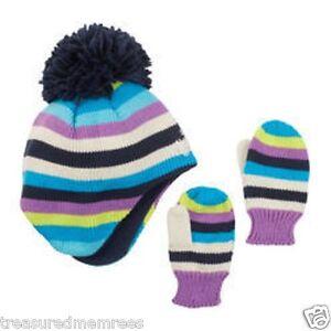 Oshkosh B'gosh 2 Piece Hat & Mittens Set ~ Size 3 to 9 Months ~ New With Tags
