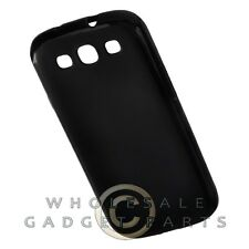 Samsung Galaxy S3 Gummy Cover Soft Black Cover Shell Protector Guard Shield Case