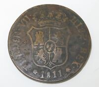 .1811 CATALONIA, SPAIN 6 QUARTOS COIN.