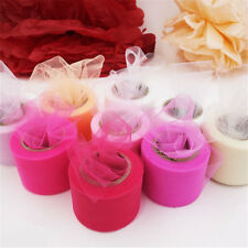 25 Yards Tutu Tulle Roll Spool Netting Craft Fabric Wedding Party Decor DIY