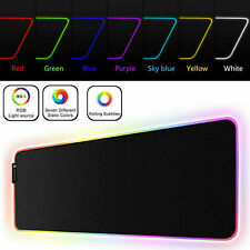 Extended Gaming RGB LED Gaming Mouse Pad Non-Slip Rubber Base