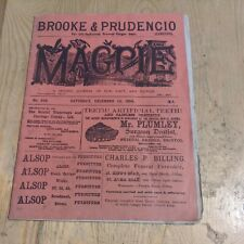 More details for 1894 bristol magpie magazine rugby football union articles adverts 20 pages