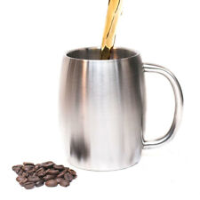 Double-deck Stainless Steel Camping Cup Insulated Tea Large Coffee Beer Mug