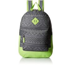 Trailmaker Big Boys  BookBag BackPack Aztec Green Gray, Attached Zipper Pouch