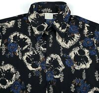 Vintage Kings Road Sears 1970s Disco Shirt Mens XL