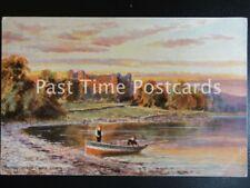 c1906 - Dunstaffenage Castle, Oban, showing rowing boat on shore