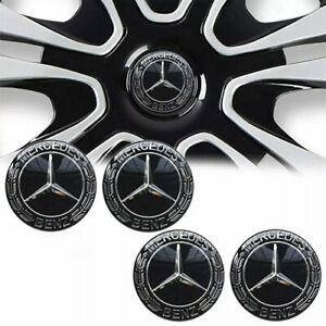 4Pcs Wheel Rim Center Caps Emblem Fit for MERCEDES BENZ Logo Badge Hub 75mm