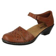 Scarpe da donna con tacco medio (3,9-7 cm) marrone con a strappo