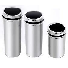 HOMCOM Automatic Hand Sensor Dustbin Kitchen Waste Bin Rubbish Can Chrome