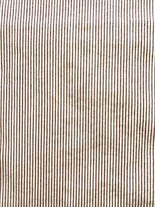 West Elm Red White Twin Tricking Stripe Pinstripe Flat Sheet 100% Crisp Cotton