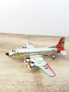 Vintage Tin Litho Friction MATS Air Force Air Plane Made In Japan