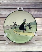 Old Austria Small Plate Girl and Dog Handpainted Plate HAAG?