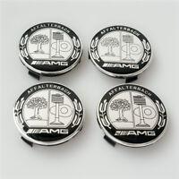 4x Mercedes Benz Alloy Wheel Centre Caps 75mm Badges AFFALTERBACH AMG Hub Emblem