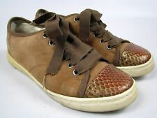 Womens Lanvin Brown Python Nubuck Limited Edition Sneakers Shoes Sz 35