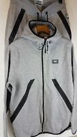 FABRIC Branded New Mens Full Tracksuit Top and Bottom Zip Hoodie Suit Large A163