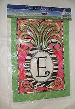 """New listing New Custom Decor, Inc. Letter E Multi Color Garden Yard Flag Banner 12"""" x 18"""""""