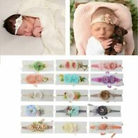 Newborn Photography Props Baby Floral Hair Accessories Baby Boy Girl Headband