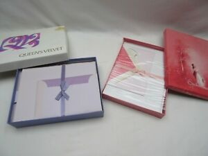 vintage 1970s Waverly Enchantment & Queens Velvet writing paper stationery boxed