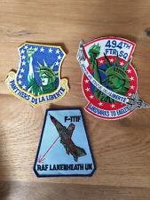 USAF patch set 7 3 RAF Lakenheath patches F-15E 494 FS EFS See other sets