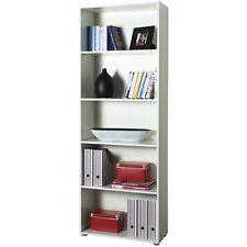 Libreria modulare elegante ufficio studio cinque vani bianco LB2886 L70h197p30