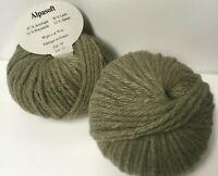10 pelotes de laine  alpaga  TAUPE/ extréme douceur  - Fabriqué en France