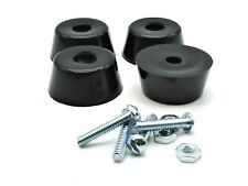 """Power Generator Rubber Feet 7/8"""" Tall X 1.5"""" Od Mounting Screws Nuts Set of 4"""