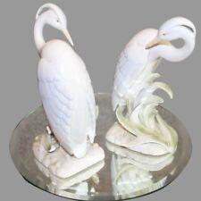 Fitz & Floyd pair set of birds 1990s vintage egrets