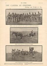 1900 ANTIQUE PRINT- BOER WAR-THE CAMERA AT COLENSO