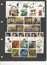GB 2009 complete year-set of commemoratives 11 fine used sets of stamps on Piece