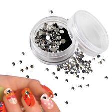 Boite strass argenté pour décoration ongles