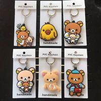 Rilakkuma PVC bear chick key chain keyring ornament bag pendant key chains new